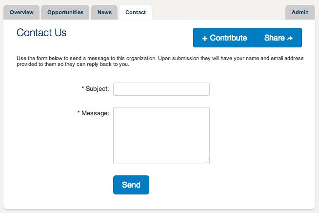 Members can contact your organization through your free profile.