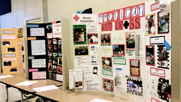 Guilford County students display their service-learning projects.