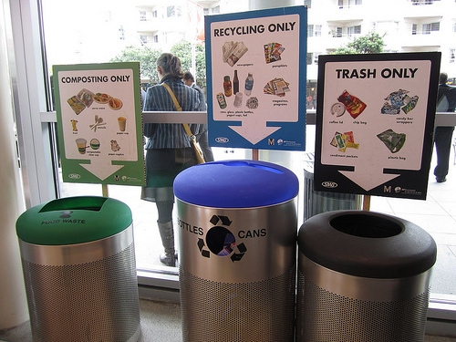 Many service opportunities help educate the community about recycling.