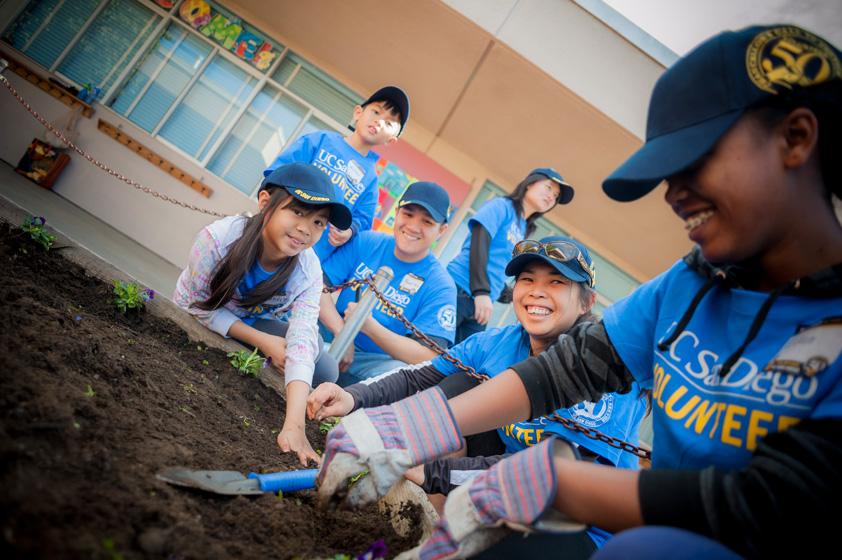 UC San Diego Volunteer on MLK Day