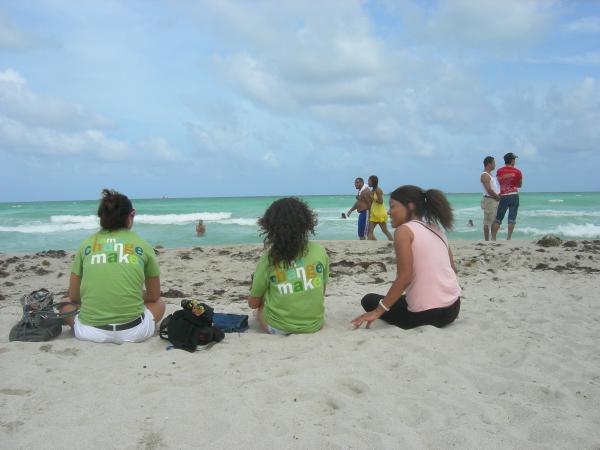 Students Volunteering on the Beach