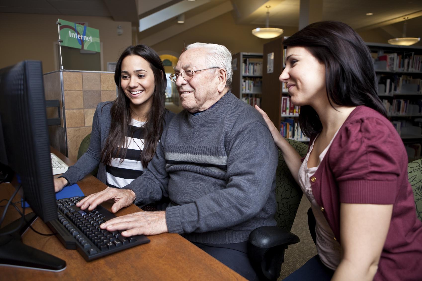 Tech-Savvy Students Volunteering